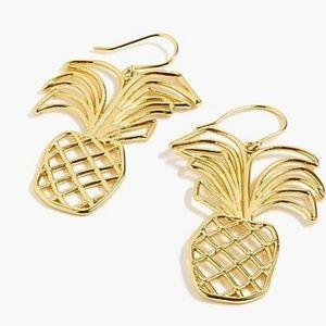 J.Crew Pineapple Earrings Burnished Gold